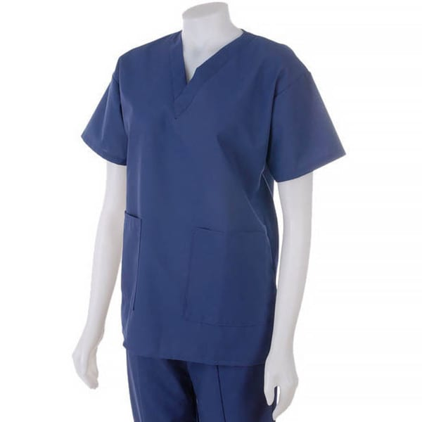 Medline Ladies Two Pocket Scrub Top Navy