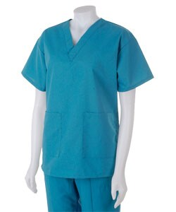 Medline Hospital Quality Women's Two Pocket Scrub Top Peacock