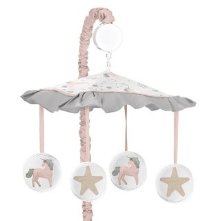 Sweet Jojo Designs Pink, Grey and Gold Unicorn Collection Musical Crib Mobile
