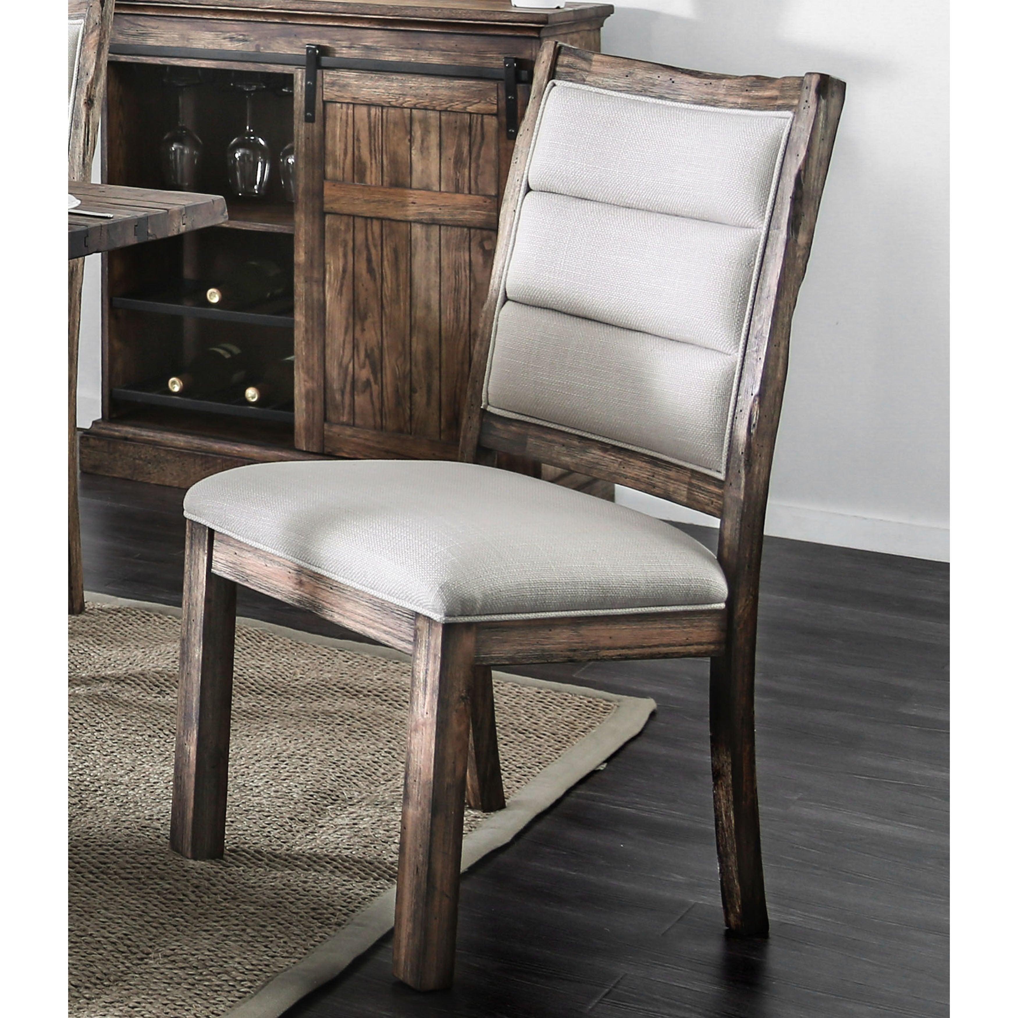 Furniture Of America Kelani Rustic Wooden Dining Chair.