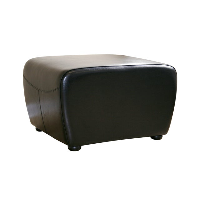 Jacob Black Bi-cast Leather Ottoman