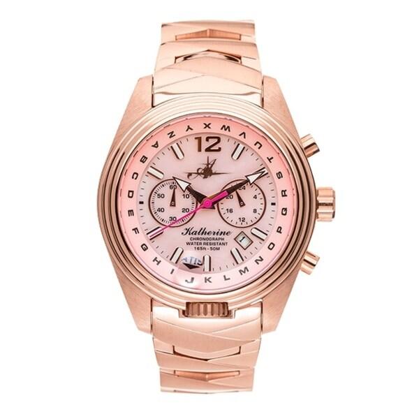 Abingdon Co. Katherine Frequent Flyer Aviation Watch ATIS Bezel & Chrono 31740609