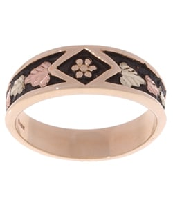 Black Hills Gold Ladies Antiqued Band