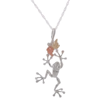 Black Hills Gold and Sterling Silver Frog Pendant