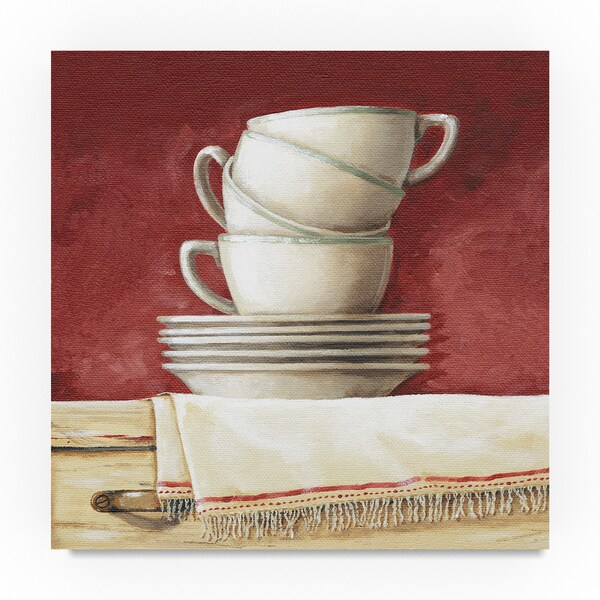 Lisa Audit 'Cups and Saucers' Canvas Art 31797332