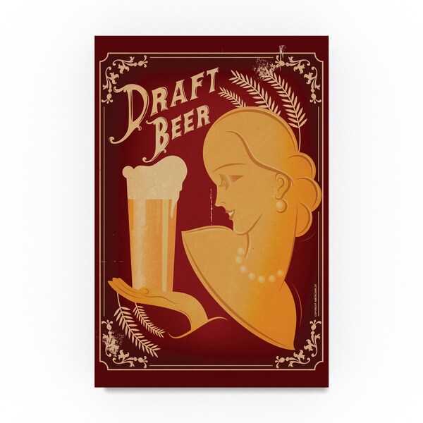 American Flat 'Draft Beer' Canvas Art 31798160