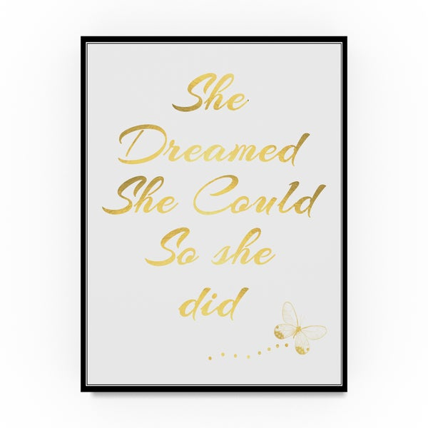 ALI Chris 'She Dreamed She Could So She did' Canvas Art 31798678