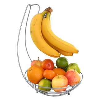 Evelots Fruit Tree Bowl/Banana Hanger-Extra Large-Solid Steel-Made in One Piece