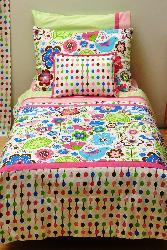 Bacati Botanical Sanctuary Multicolor 4-piece Toddler Bedding Set