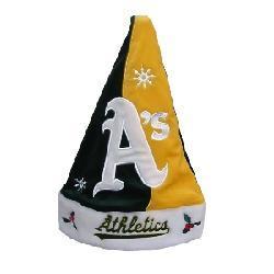 Oakland Athletics Santa Hat