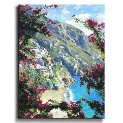 The Amalfi Coast-Positano Stretched Canvas Art