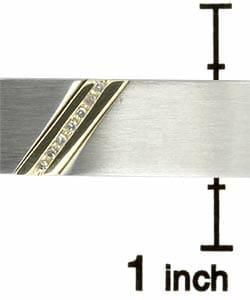 10k Yellow Gold Men's Steel Diamond Bracelet