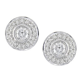 14k White Gold and 2/5ct Diamond Earrings