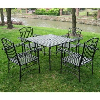 International Caravan Tropico Five-piece Iron Outdoor Furniture Set