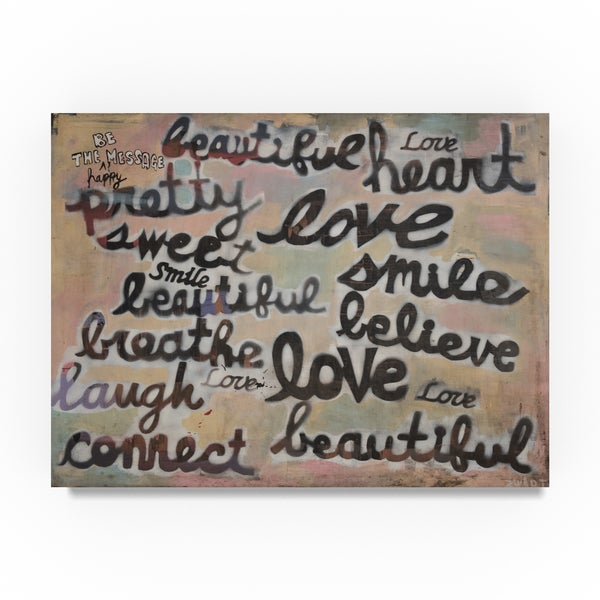 Zwart 'Live By These Words' Canvas Art 32043447