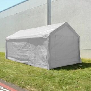 ALEKO Heavy Duty Outdoor Gazebo Canopy White Tent with Sidewalls