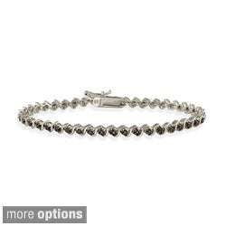 DB Designs White, Black, or Champagne 1/8ct Diamond Tennis Bracelet