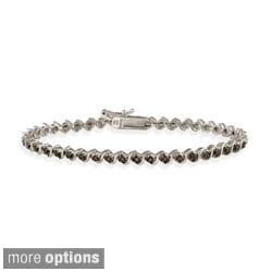 DB Designs White, Black, or Champagne Diamond Tennis Bracelet