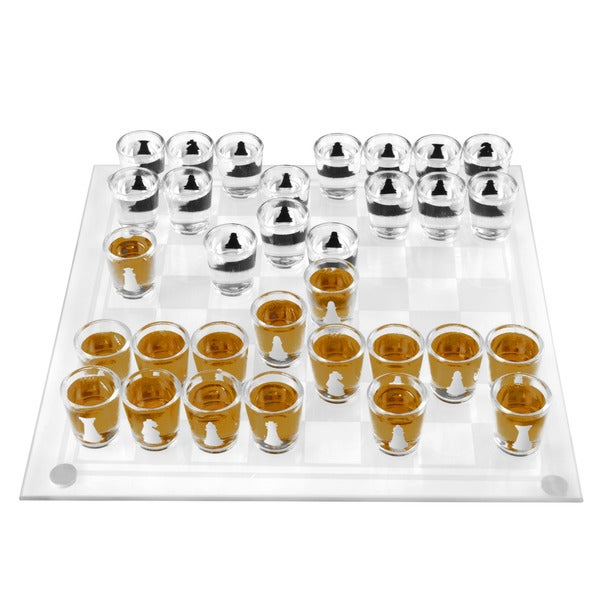 Shot Glass Chess and Checkers Game Set- 32 Shot Glasses by Hey! Play! 32060586