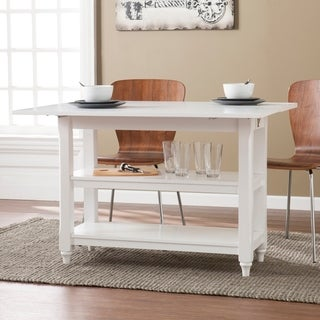 Brushford White Convertible Console to Dining Table