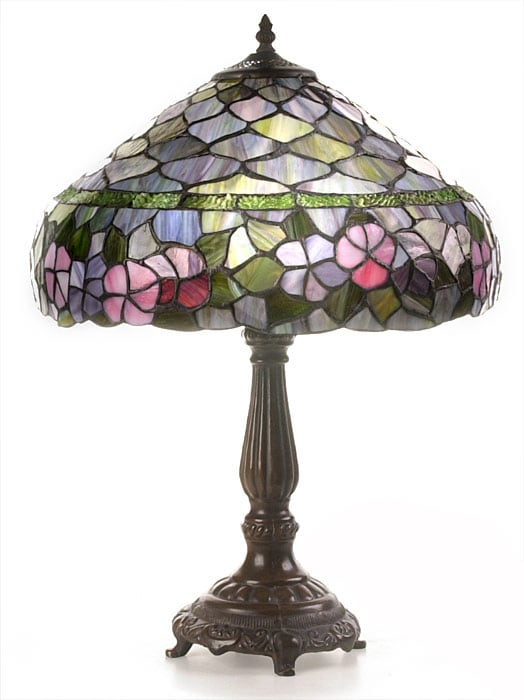 tiffany style peony table lamp 10244645 shopping. Black Bedroom Furniture Sets. Home Design Ideas