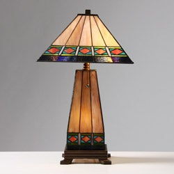 Tiffany-style Mission-style Lighted Base Table Lamp