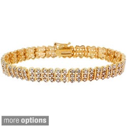 DB Designs 18k Gold Overlay or Sterling Silver 1/4ct TDW Diamond Bracelet (I-J, I3)