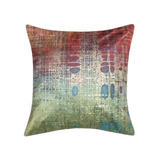 Edie at Home Precious Metals Verdigris Digital Printed Velvet Pillow Verdigris 20x20 Inch