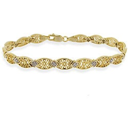 DB Designs 18k Gold over Sterling Silver Diamond-accent Bracelet