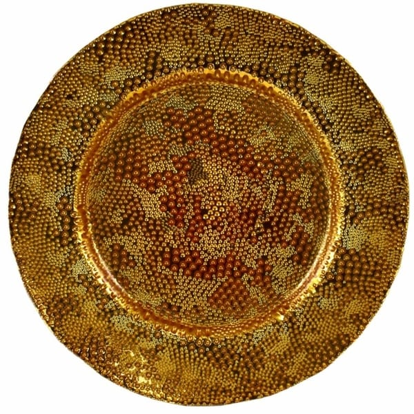 Appealing Electroplated Glass Charger, Gold 32150161