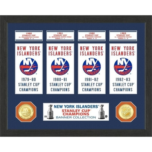 New York Islanders Stanley Cup Banner Collection Photo Mint - Multi 32164351