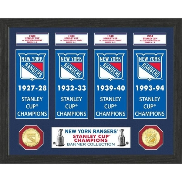 New York Rangers Stanley Cup Banner Collection Photo Mint - Multi 32164357