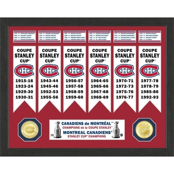 Montreal Canadiens Stanley Cup Banner Collection Photo Mint - Multi 32164382