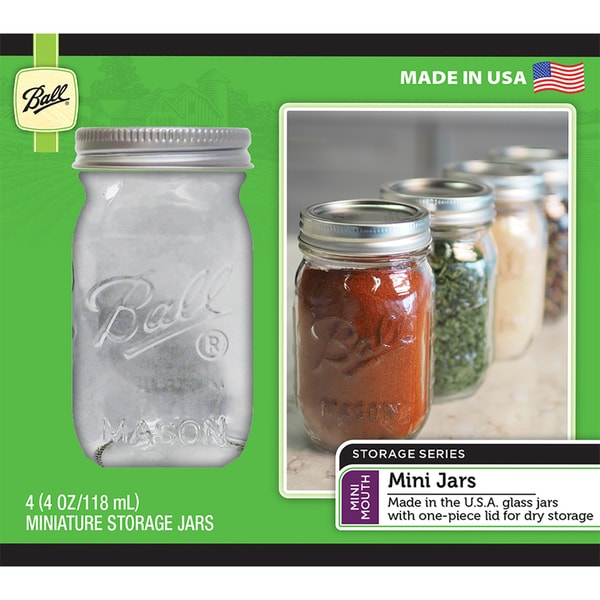 Ball (R) Mini Storage Jars 4/Pkg 32171032