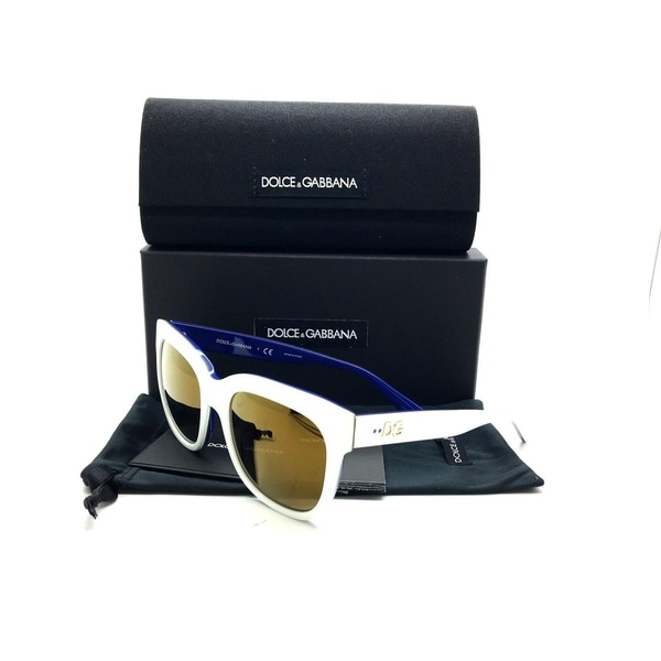 Dolce & Gabbana White Sunglasses DG 4272 3005 F9 3N 53mm Blue Gold  Mirror 32171125
