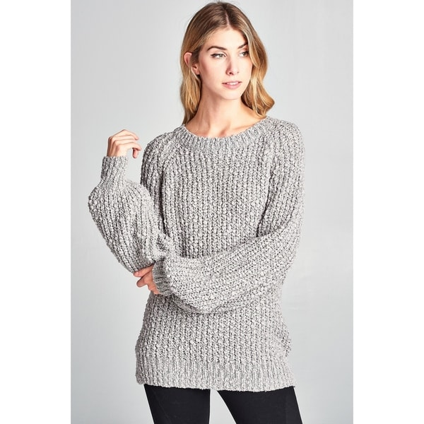 Spicy Mix Andela Chunky Soft Knit Long Sleeve Sweater 32171252