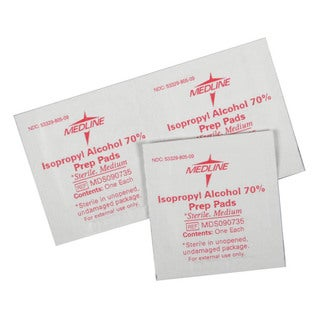 Medline Alcohol Prep Pad, Sterile, Medium (Case of 3000)