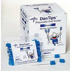 Medline Untreated Blue Oral Swab Dentips (Pack of 50)
