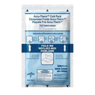 "Medline Accutherm 6"" x 10"" Instant Cold Pack (Case of 24)"