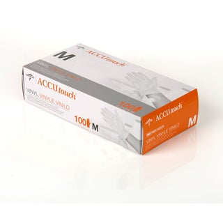 Medline Accutouch Powder-Free Latex-Free Vinyl Exam Gloves Medium (Case of 1 000)