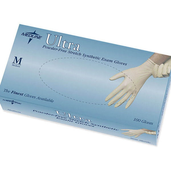 Medline Medium Powder-Free Ultra Vinyl Exam Glove (Case of 1000)
