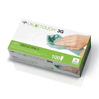 Medline Aloetouch 3G Powder-Free Latex-Free Vinyl Exam Gloves Large (Case of 1 000)