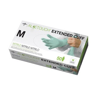 Medline Aloetouch Extended Cuff Chemo Nitrile Exam Gloves Medium (Case of 500)