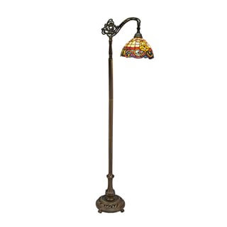 Tiffany-style Baroque Floor Bridge Lamp