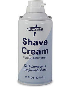 Medline Improved Design 11-ounce Shave Cream (Pack of 12)