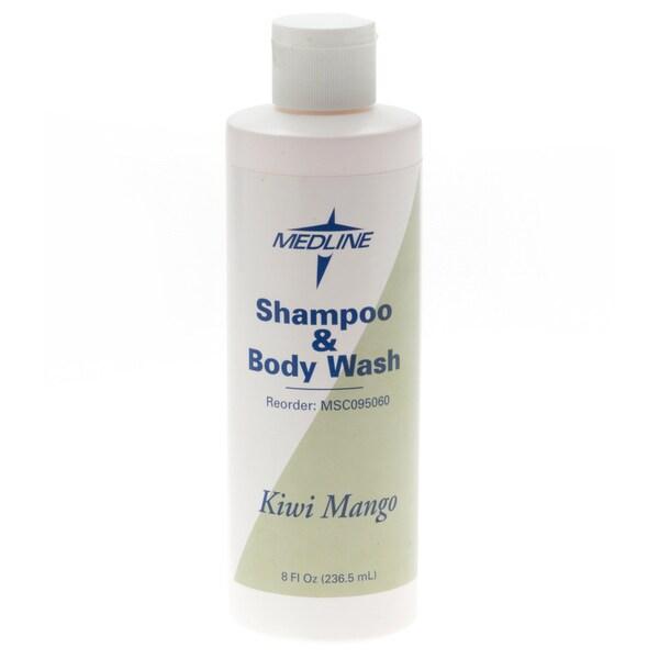 Medline Kiwimango 8-ounce Shampoo/Body Wash (Case of 48)
