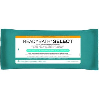 ReadyBath SELECT Total Body Cleansing Medium Weight Washcloths, Antibacterial Formula, Fragrance-Free (Case of 30)
