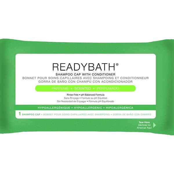 Medline ReadyBath Rinse-Free Shampoo and Conditioning Caps Scented (Case of 30)