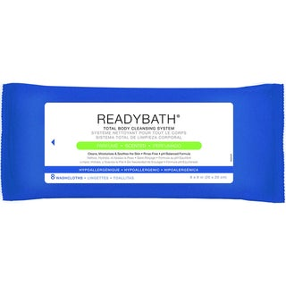Medline ReadyBath Total Body Cleansing Standard Weight Washcloths, Scented (Case of 30)