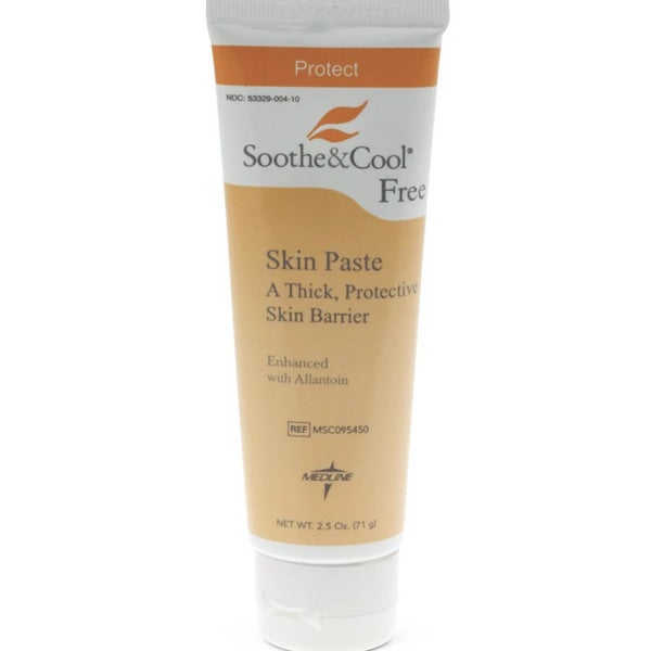 Medline Soothe & Cool Skin Paste Cream 2.5-ounce (Pack of 12)